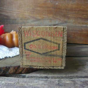 No. 4 Wisconsin Sharp Cured Cheese Box Home Decor